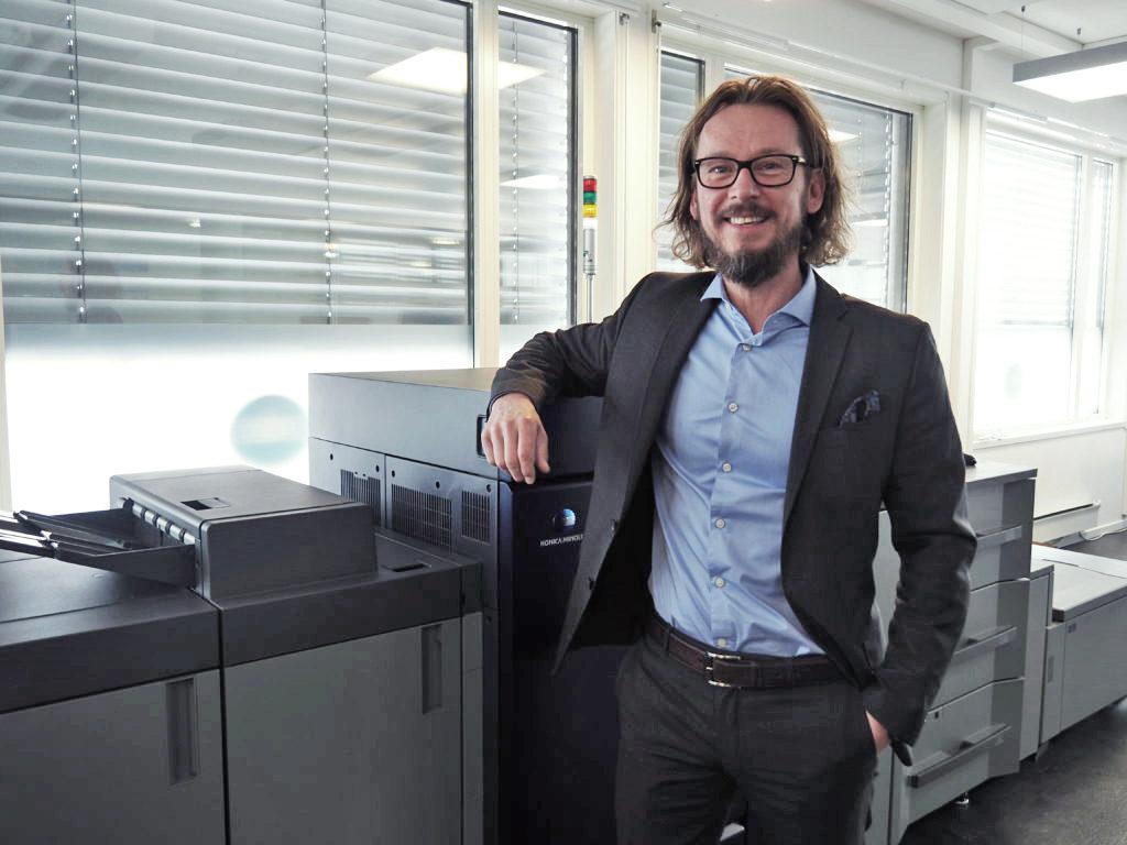Roger Wiig är nordisk försäljningschef för affärsområdet industrial printing på Konica Minolta.