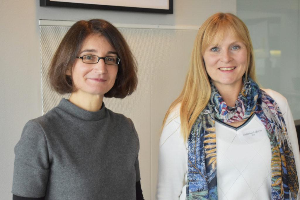 Laetitia Reynaud, Intergraf och Cathrine Löfgren från RISE inledde seminariedagen med att prata om EU-direktiv och dess påverkan på den svenska marknaden.