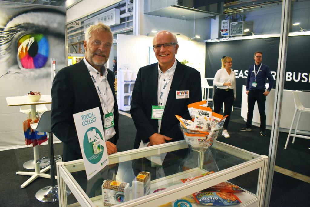 Olle Olsson, Design director på Kostym till vänster, och Tomas Eriksson, säljchef på Marvaco.