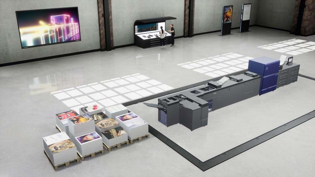 """Konica Minolta lanserar en plattform för ett virtuellt showroom för att skapa upplevelser för sina kunder i """"det nya normala"""". Foto: Konica Minolta"""